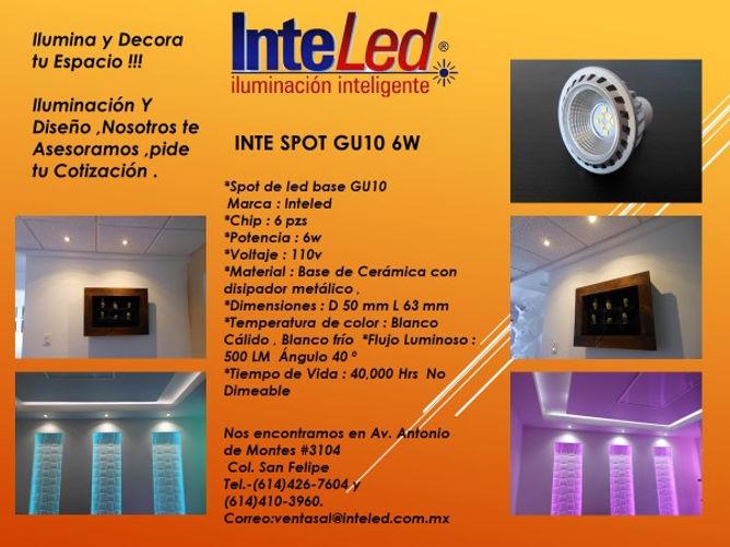 Spots INTE GU10 6w