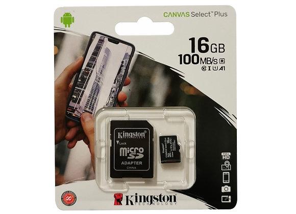 Carte mémoire Micro SDXC 16 Go avec adaptateur SD
