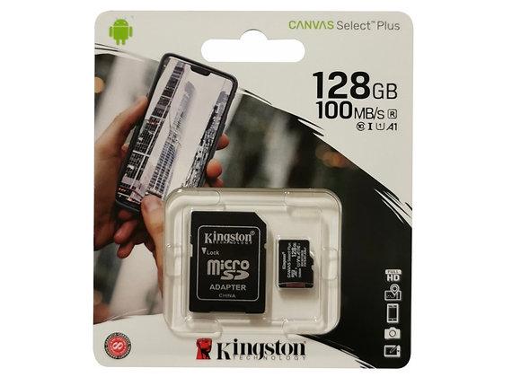 Carte mémoire Micro SDXC 128 Go avec adaptateur SD