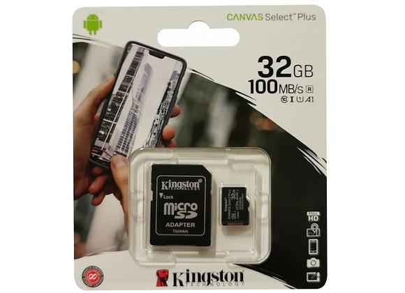 Carte mémoire Micro SDXC 32 Go avec adaptateur SD