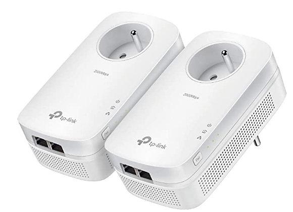 TP-LINK CPL KIT DE 2+Prise Homeplug AV1200mbps TL-PA8015P KIT