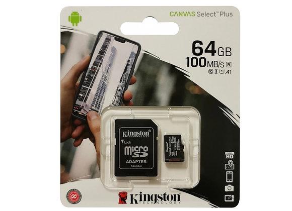 Carte mémoire Micro SDXC 64 Go avec adaptateur SD