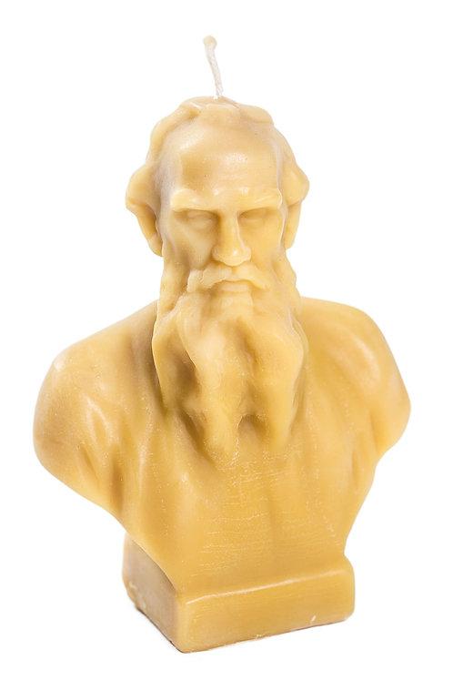 Кабинетная скульптура-свеча Л.Н.Толстой