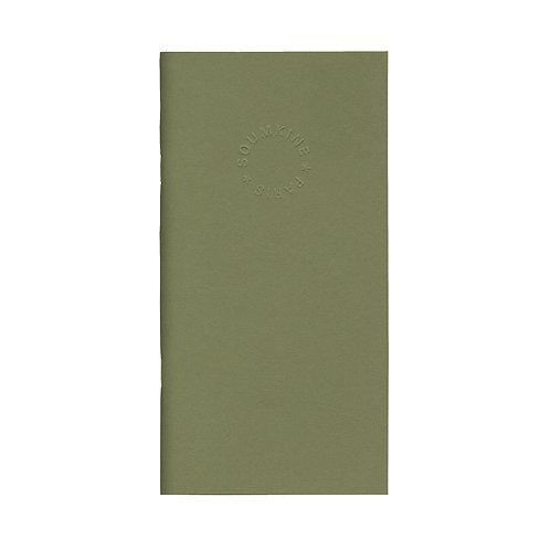 Блокнот SUMKINE premium, OLIVE slim size