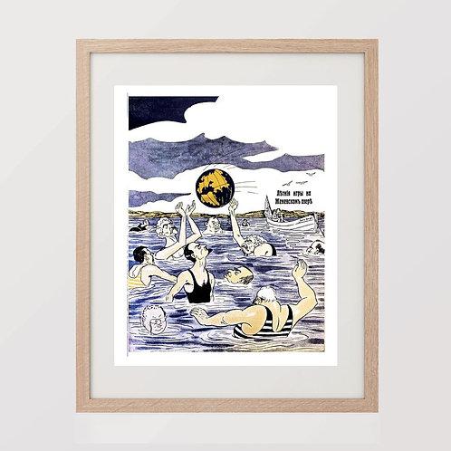 "11. Плакат ""La Russe Illustree"". Репринт."
