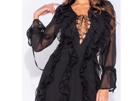 She's A Lace Ruffle Dress