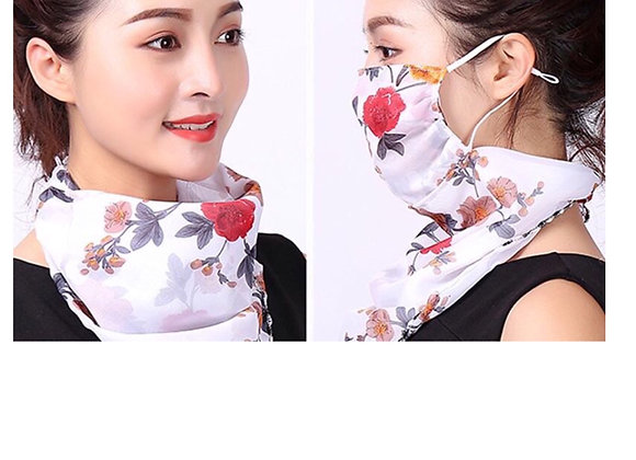 Flower Bloom Face Scarf