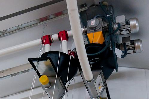 Транспортер с трехфазным двигателем, 1 л.с., Ø 75, для кормления молодняка