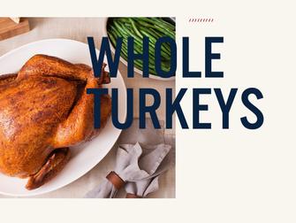 Thanksgiving turkeys are in!