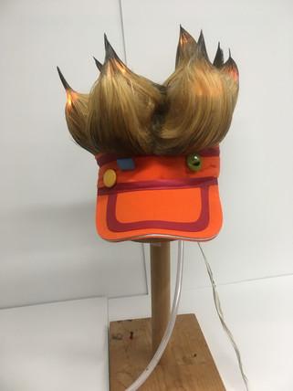 LED Smoking Wig Front