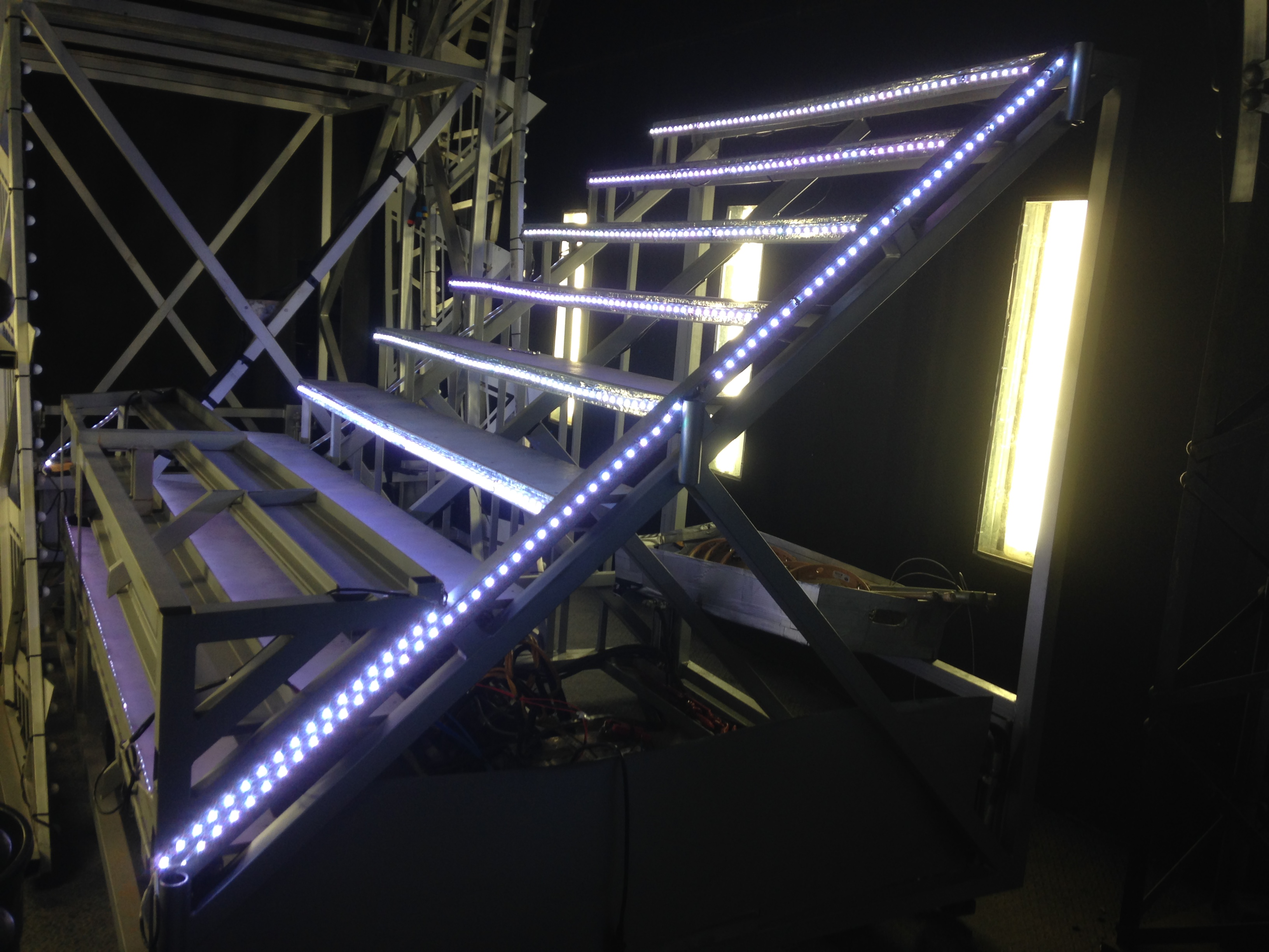 Grandstand Show, LED stair unit