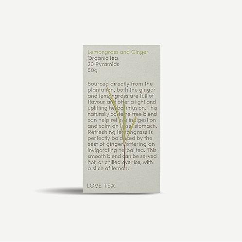Organic Lemongrass and Ginger LOVE TEA - 20 Pyramids