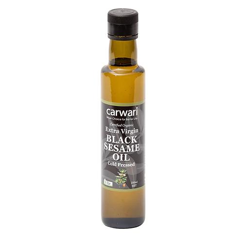 Organic Black Sesame Oil, Cold Pressed, Extra Virgin - 250ml