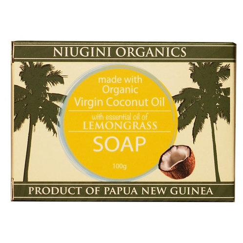 Organic Lemongrass Coconut Soap - 100g