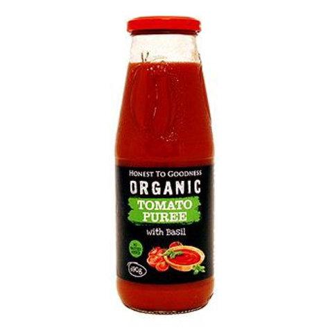 Organic Tomato Puree with Basil - 690g