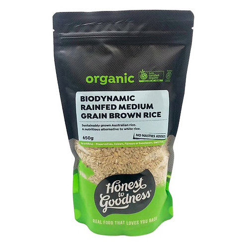 Biodynamic Rainfed Medium Grain Brown Rice