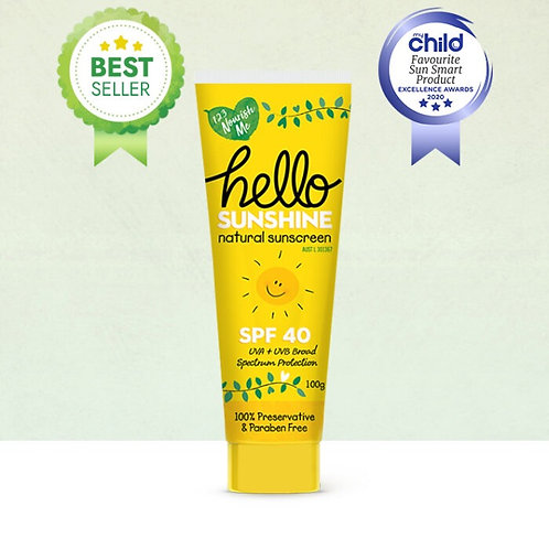 Hello Sunshine Natural Sunscreen (123 Nourish Me) - 100g