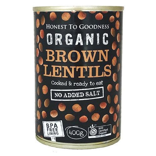 Organic Brown Lentils (BPA free) - 400g