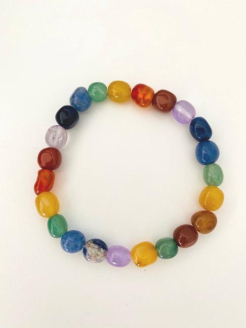 Chakra Crystal Polished Bracelet