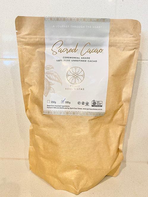 Organic Sacred Cacao, Ceremonial Grade - 500g