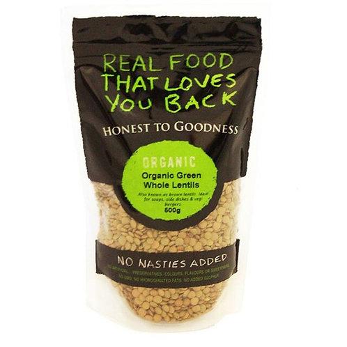 Organic Green Lentils - 500g