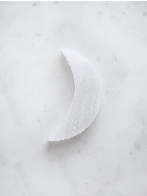 Selenite Cresent Moon Crystal