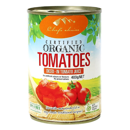 Chef's Choice Certified Organic Diced Tomatoes (BPA free) - 400g