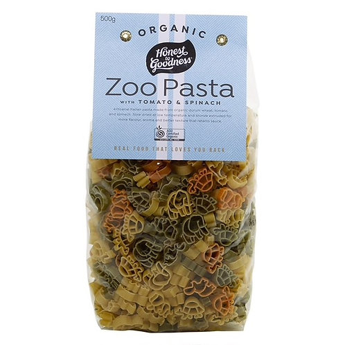 Organic Zoo Pasta with Tomato & Spinach - 500g