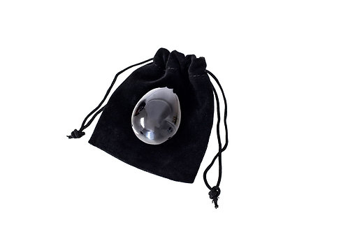 Back Obsidian Crystal Yoni Egg - Small Size (drilled)