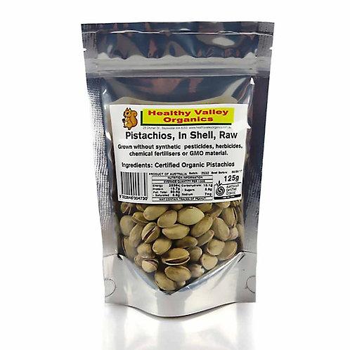 Organic Raw Pistachios (Shell) - 125g