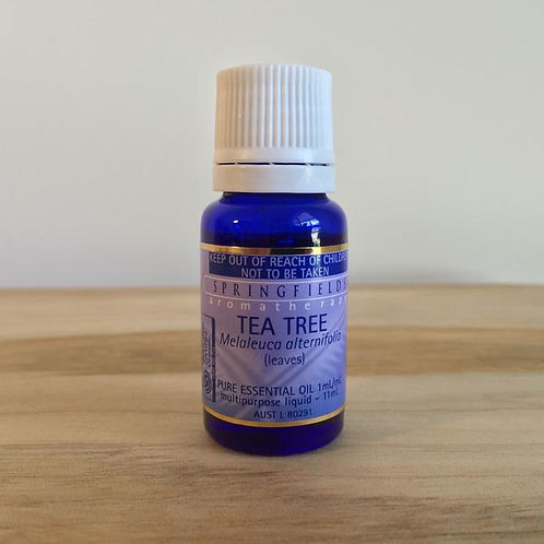 Certified Organic Springfields Tea Tree Essential Oil - 11ml