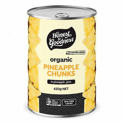 Organic Pineapple Chunks in Pineapple Juice - 420g