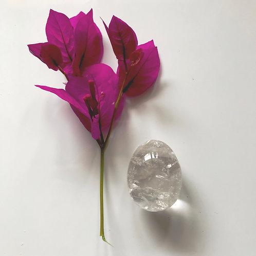 Clear Quartz Crystal Yoni Egg - Medium