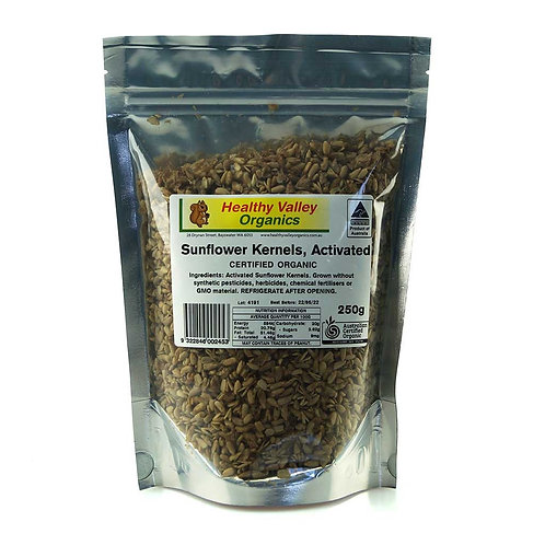 Organic Activated Sunflower Kernels - 250g