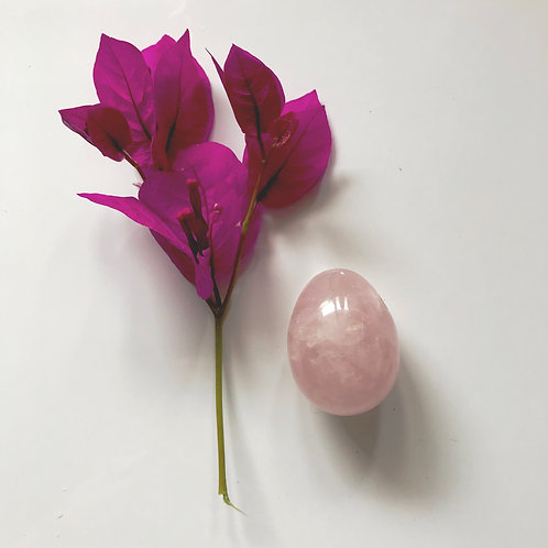Rose Quartz Crystal Yoni Egg - Small