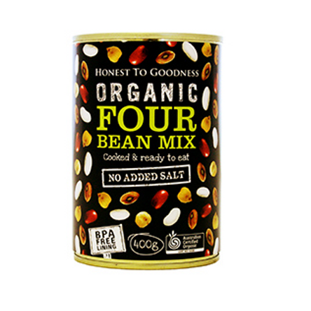 Organic Four Bean Mix (BPA Free) - 400g