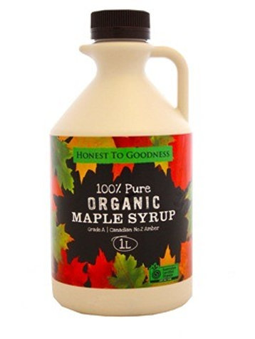 Organic 100% Pure Maple Syrup - 1L (slight damage to bottle)