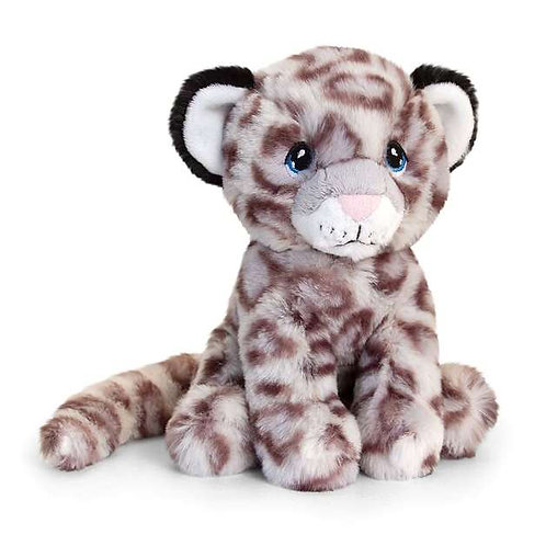 Keeleco 100% Recycled Snow Leopard - 18cm