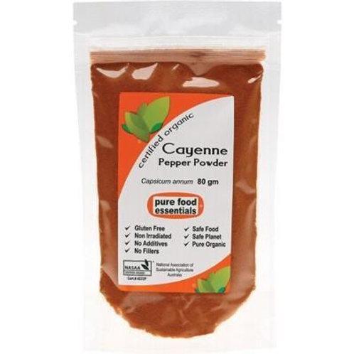 Organic Cayenne Pepper - 80g
