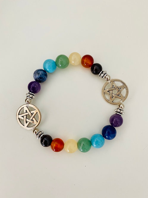 Chakra Crystal Polished Bracelet - Star (Kids)