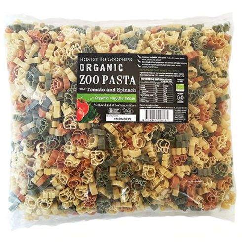 Organic Zoo Pasta with Tomato & Spinach - 2kg