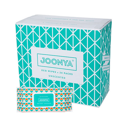 Joonya Non-toxic, Biodegradable Eco Wipes - box of 24 packs