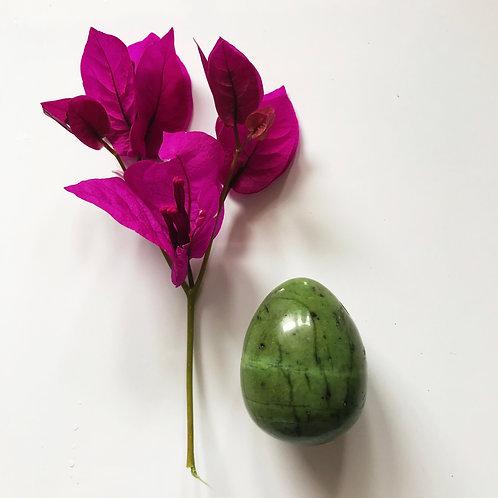 The Original Nephrite Jade Yoni Egg - Medium