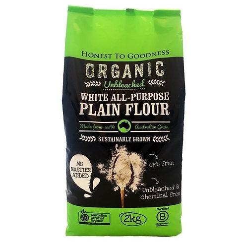 Organic Unbleached White All-Purpose Flour - 2kg