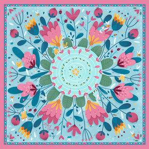 Illustration silk scarf Thumbelina
