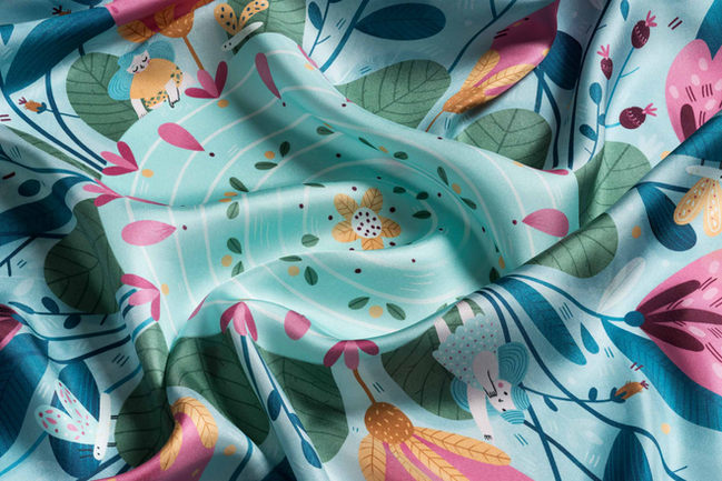 detail of silk scarf Thumbelina