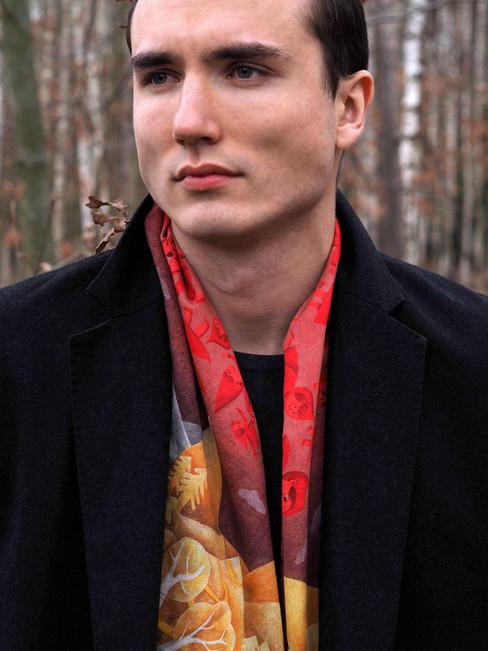 Jak nosí šátek muž / How man wears a scarf