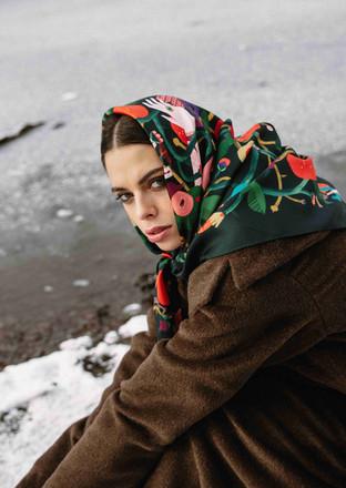 scarf Sleeping Beauty winter