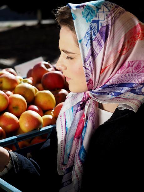 scarf Twelve month like in fairy tale