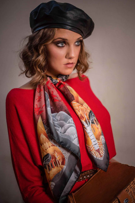 scarf Little red riding hood